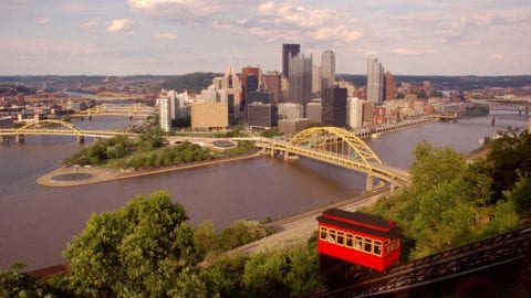 Pittsburgh view from incline