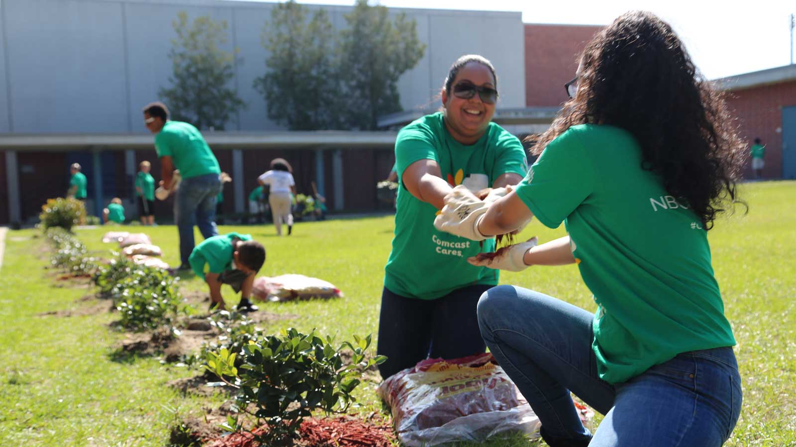 CCD volunteers in garden