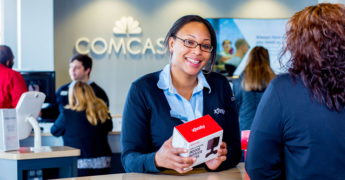woman at comcast