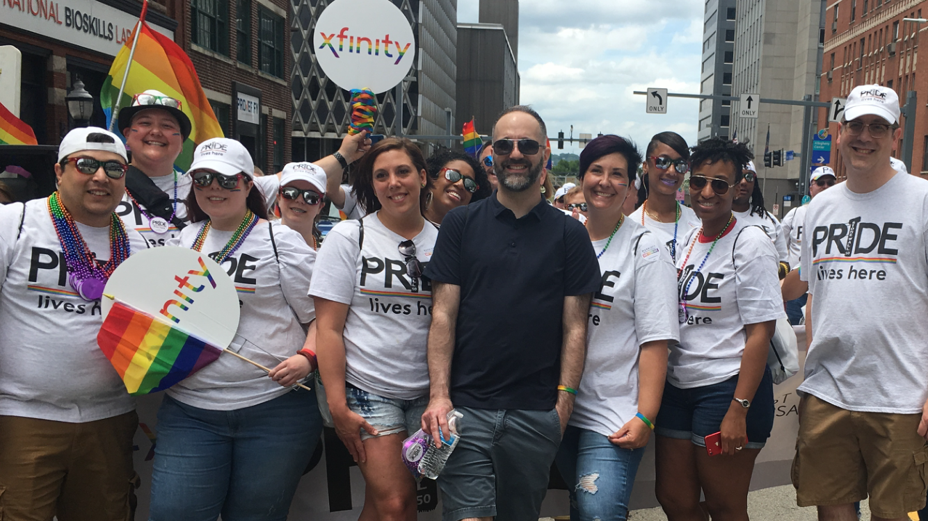 Comcast Employees at Pittsburgh Pride