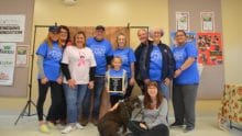 Comcast Cares Day volunteers at Beaver County Humane Society.