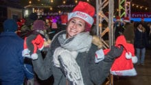An event participant at Comcast Light Up Night.