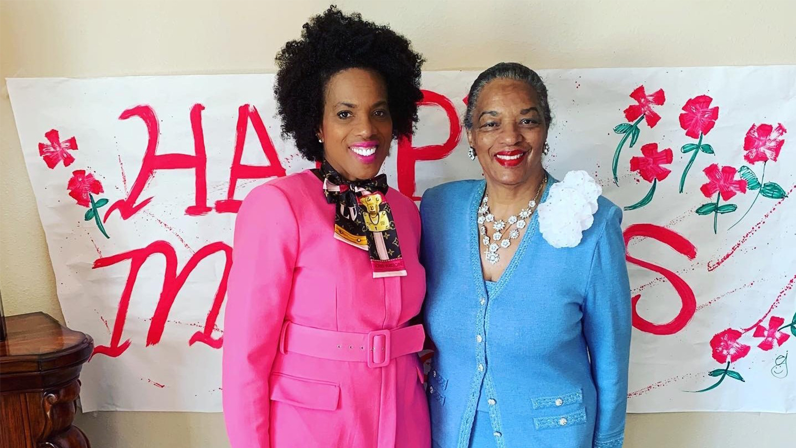 Dana Brooks and her mother.