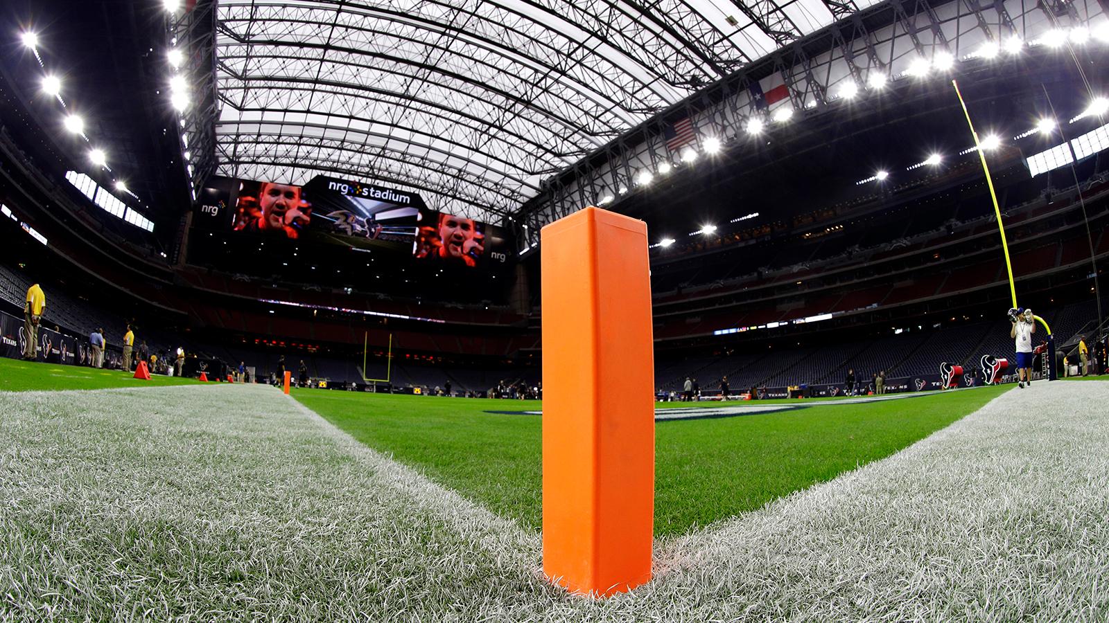 Corner of a football field