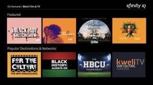 Xfinity X1 Black Film & TV
