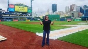 Lyndsay Pollock at ballpark