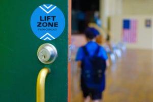 Child inside Comcast Lift Zone