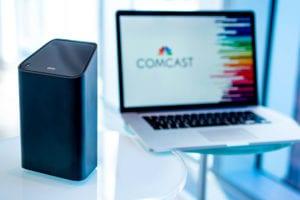 Comcast logo on laptop