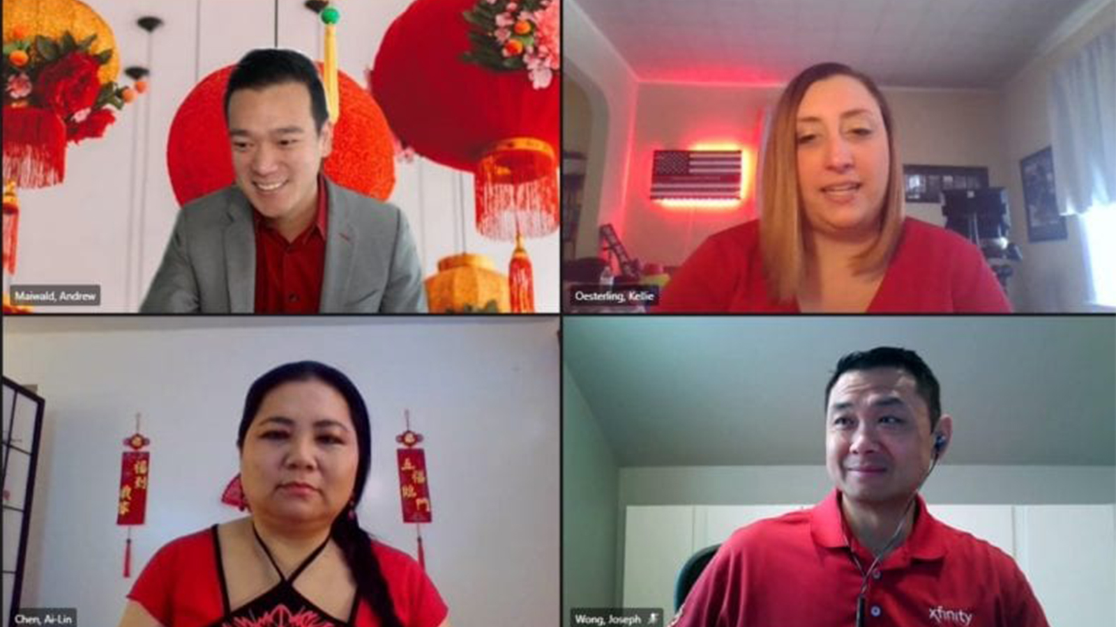 Comcast employees celebrate Lunar New Year