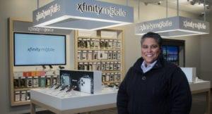DeShane Hambrick inside an Xfinity store